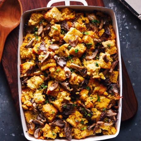 Cornbread & Oyster-Mushroom Stuffing