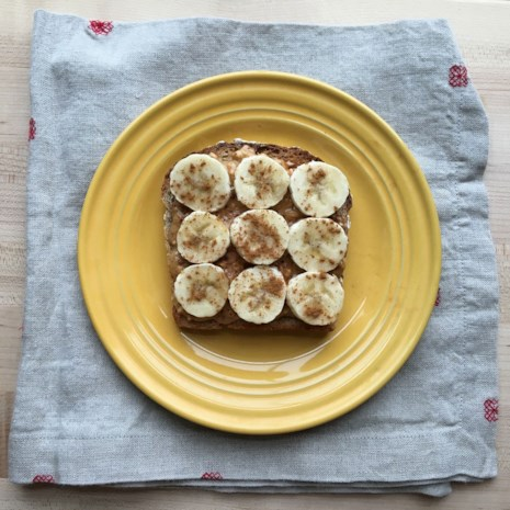 Peanut Butter-Banana Cinnamon Toast