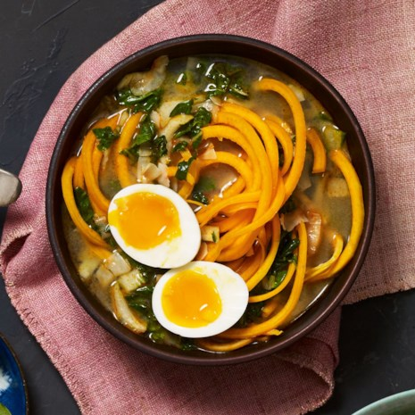 Coconut Curry Cup of Noodles with Spiralized Butternut Squash Noodles