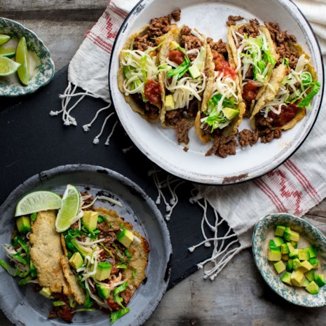 Cauliflower Tortilla Beef Tacos