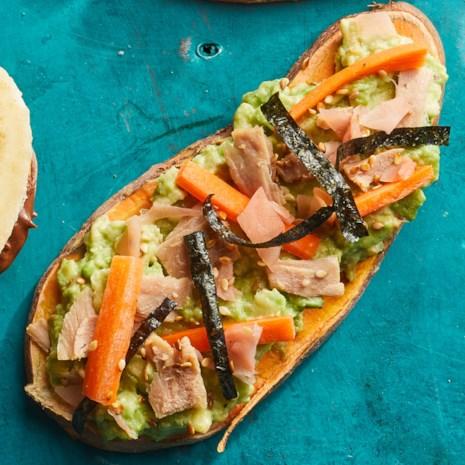 Tuna & Avocado Sweet Potato Toast