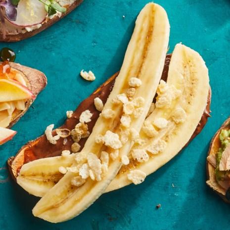 Chocolate & Banana Sweet Potato Toast
