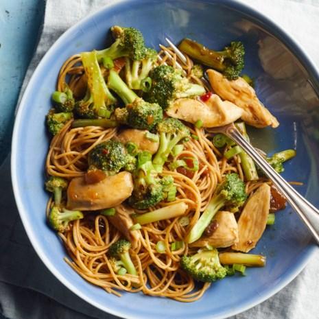 Stir-Fried Chicken & Broccoli with Mango Chutney