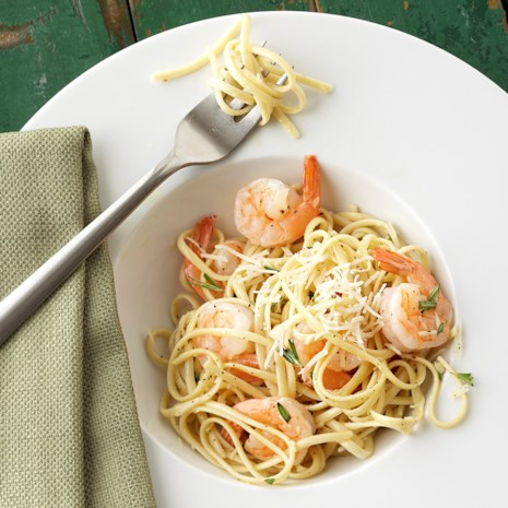 Fresh Herb Shrimp Linguini