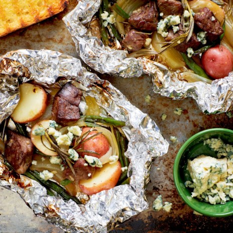 Steak & Potato Grill Packets with Blue Cheese & Rosemary
