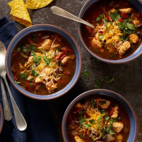 Pressure-Cooker Chicken Enchilada Soup