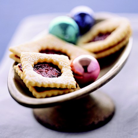 Raspberry-Fig Linzer Cookies