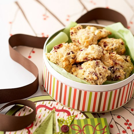 Cranberry-White Chocolate Cornmeal Tea Biscuits