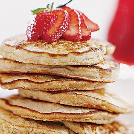 Honey-Oat Pancakes