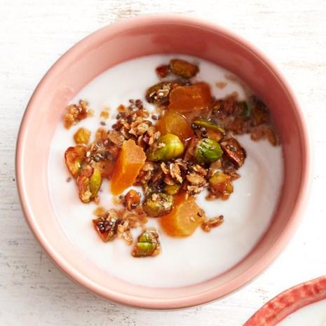 Pistachio Apricot Crunch Yogurt Topper