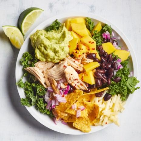 Chicken & Kale Taco Salad with Jalapeño-Avocado Ranch