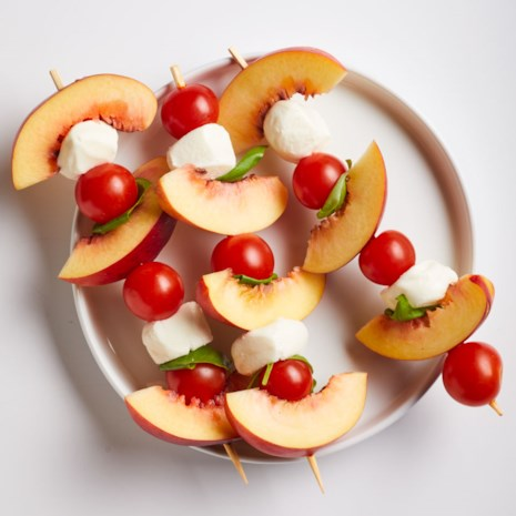 Peach Caprese Skewers
