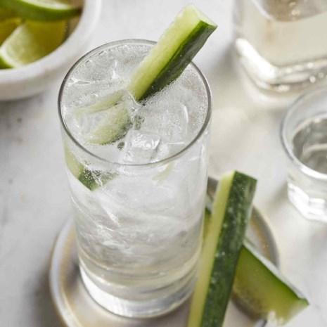 Lavender-Cucumber Gin & Tonic