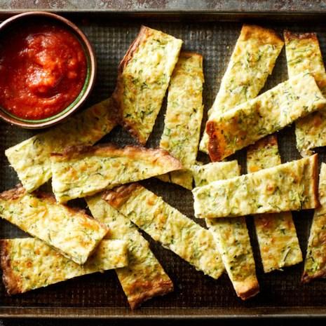 Cheesy Zucchini Breadsticks