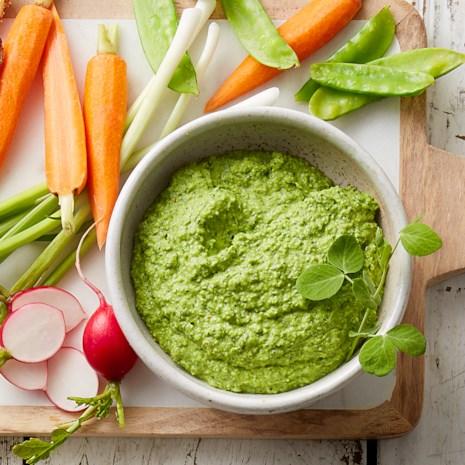 Green Pea-Chimichurri Dip