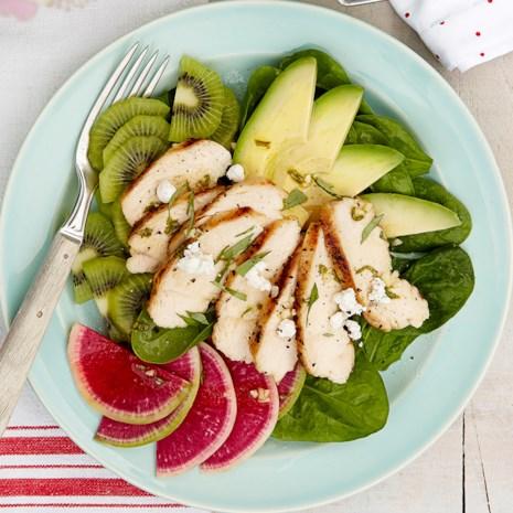 Chicken, Kiwi and Avocado Salad