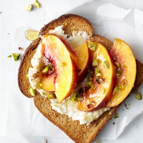 Pistachio & Peach Toast