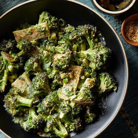 Roasted Broccoli with Garlicky Tahini Sauce