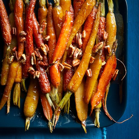 Sweet & Spicy Roasted Carrots