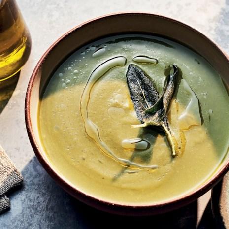 Green Soup with Yams & Sage
