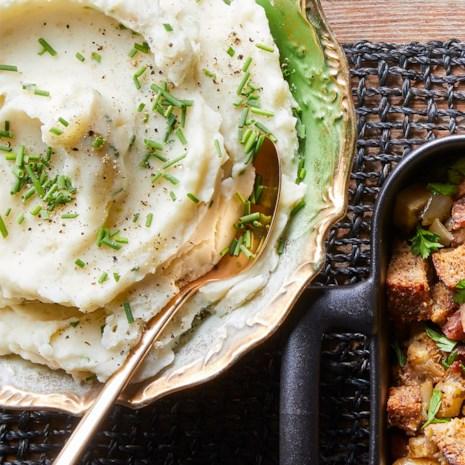Garlic & Chive Mashed Potatoes