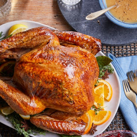 José Andrés' Brined Roast Turkey & Gravy