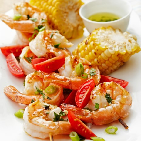 Shrimp Kebabs with Lemon Marinade