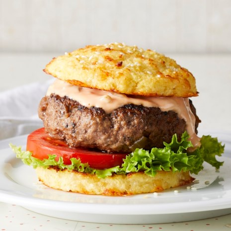 Classic Beef Burgers with Cauliflower Buns