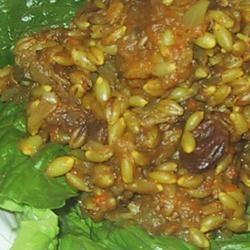 Indian Curried Barley Pilaf sueb