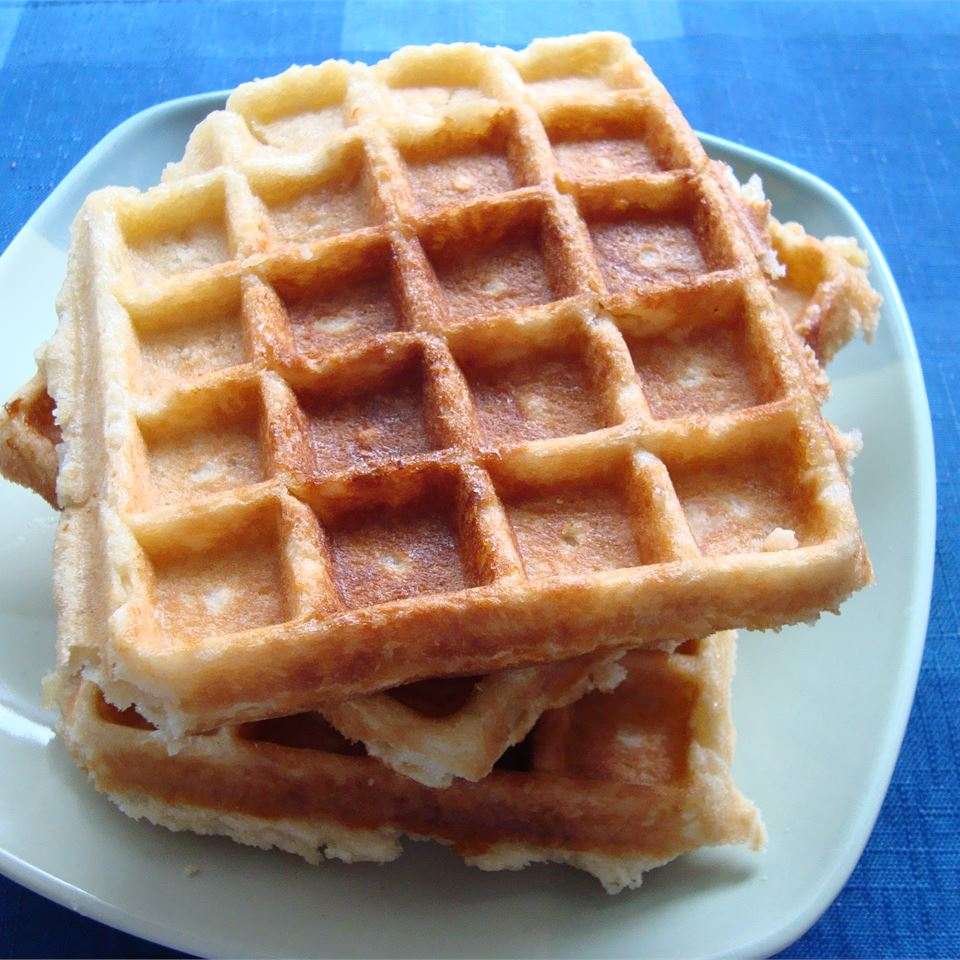 Liege Belgian Waffles with Pearl Sugar_image