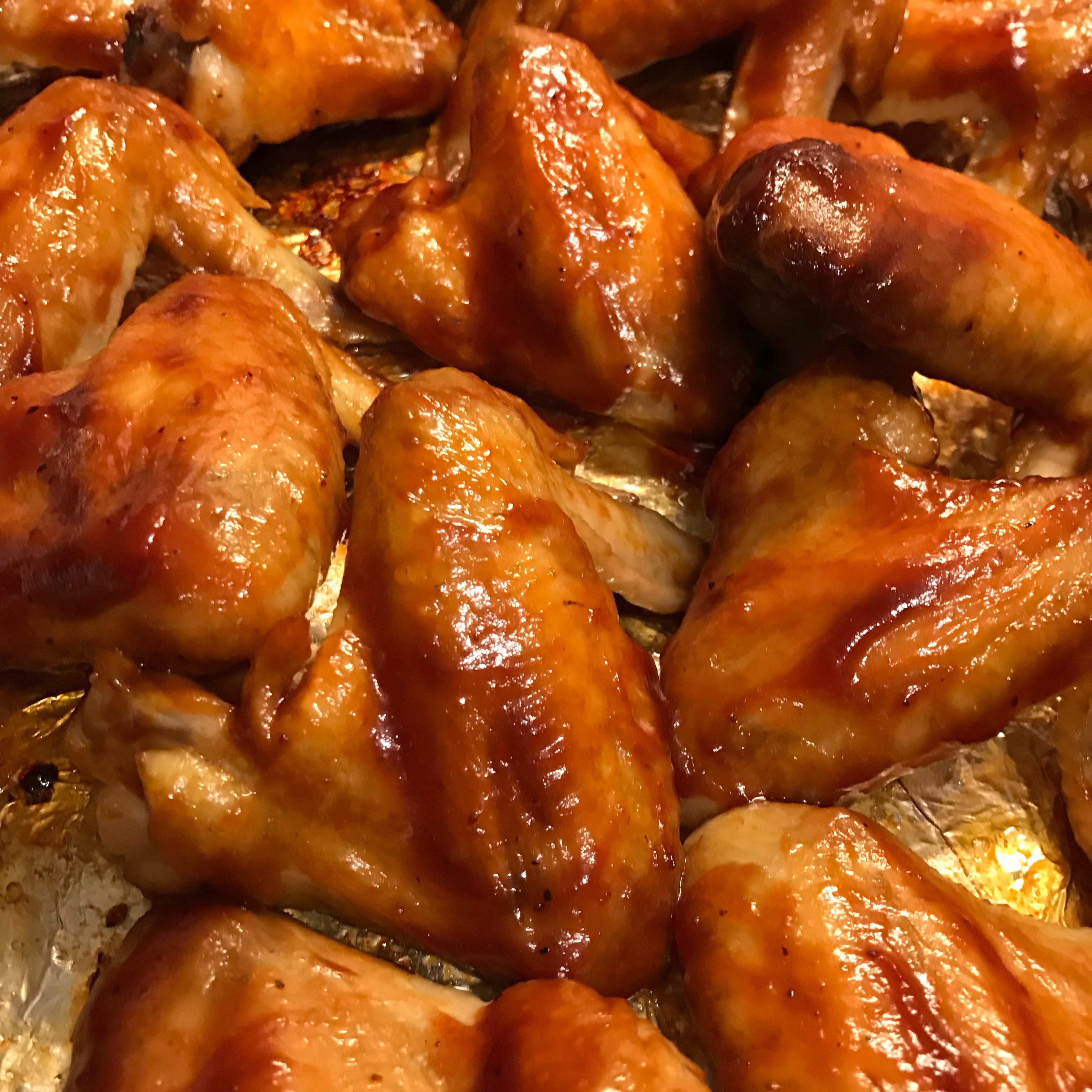 Baked BBQ Chicken Wings Jodie Fishbein