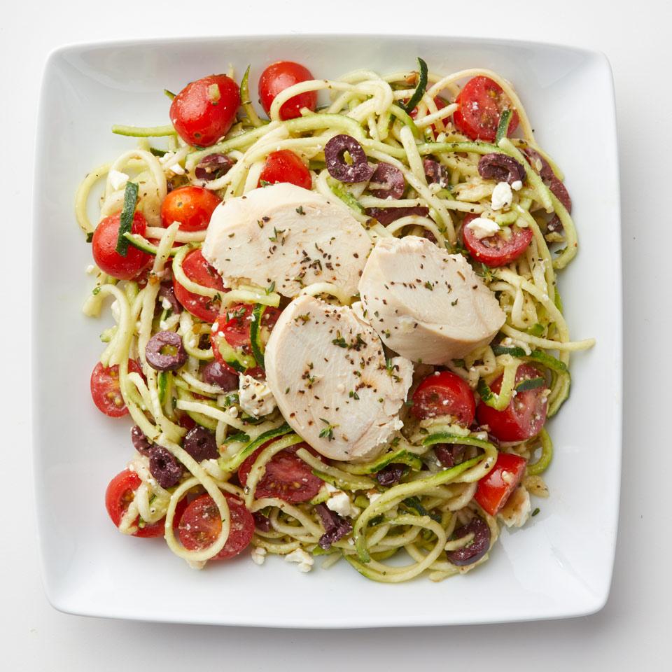 Zucchini Noodle Salad with Chicken Breana Killeen