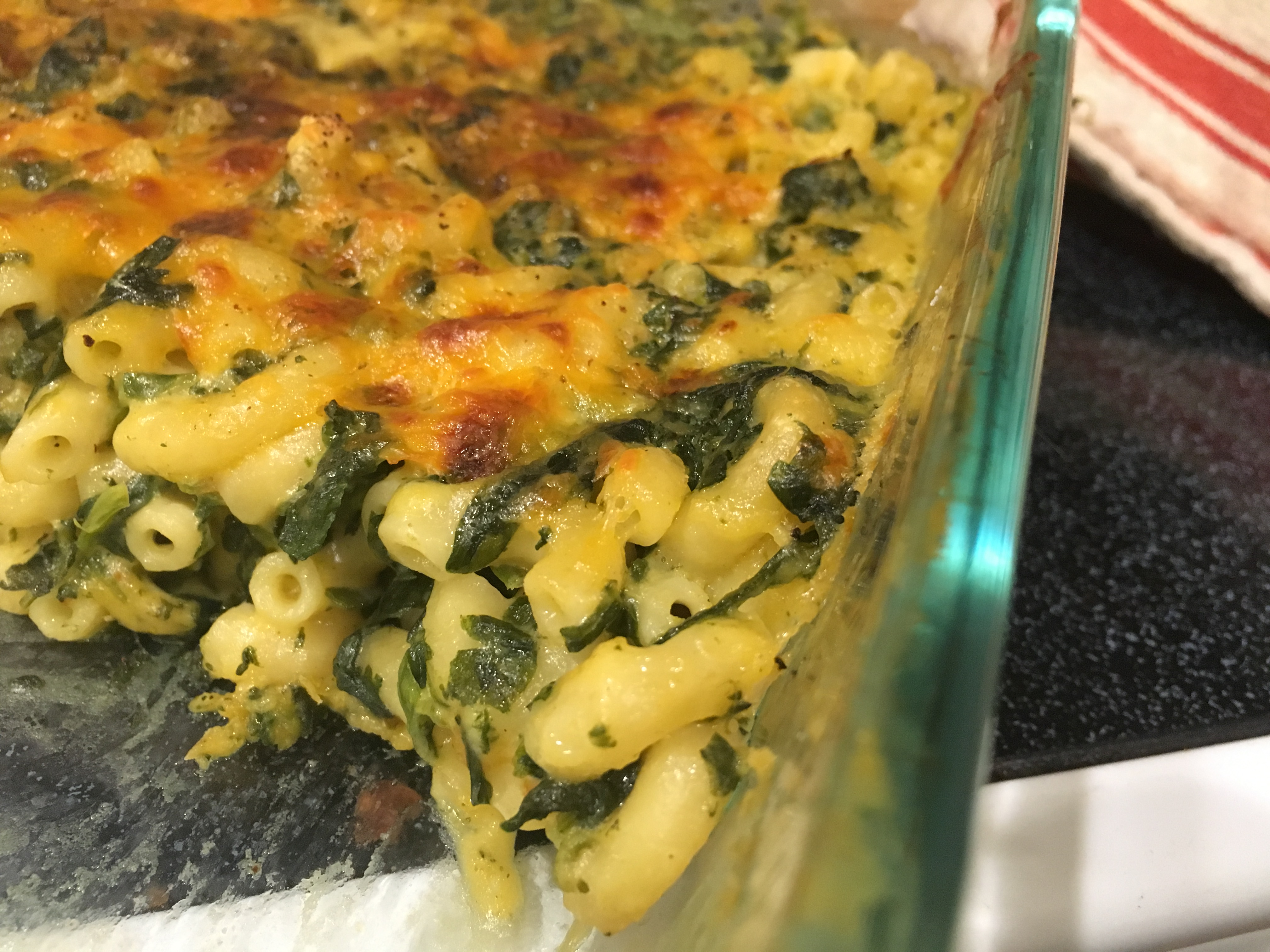 Spinach Mac And Cheese image
