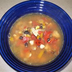 Easy Chicken Fajita Soup
