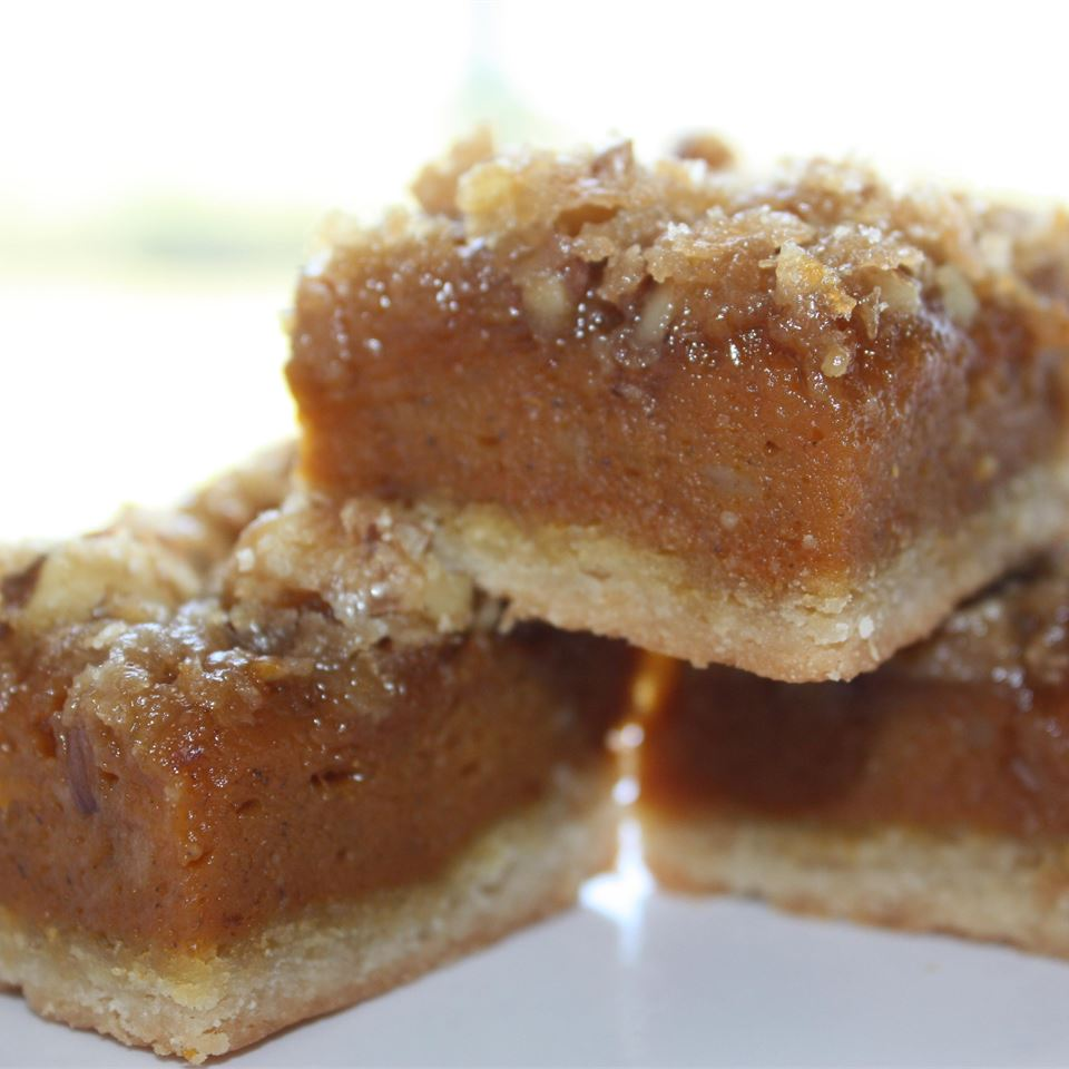 Pumpkin Shortbread Bars