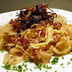 German Spaetzle with Sauerkraut Jutta