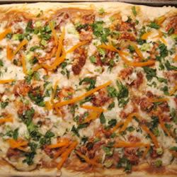 Gourmet Thai Chicken Pizza PaulandPam Folbrecht