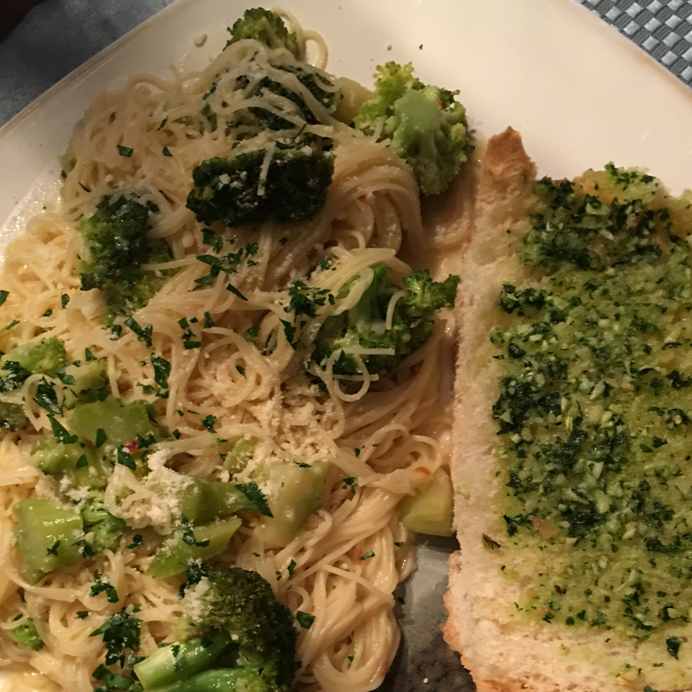 Broccoli Garlic Angel Hair Pasta