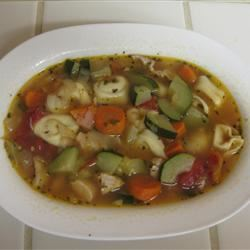 Chicken Tortellini Soup With Zucchini and Tomatoes Annie