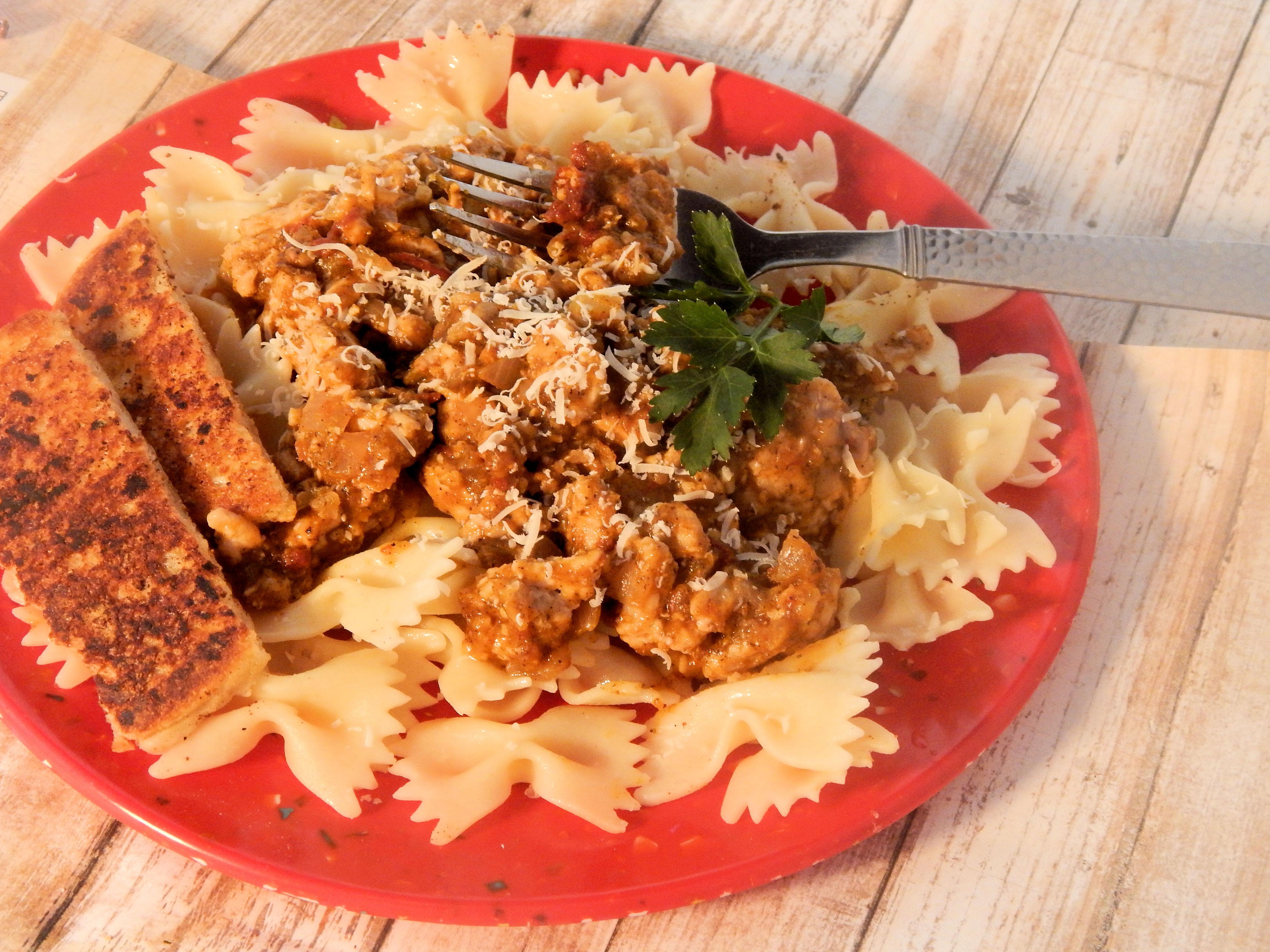 Sweet and Spicy Pumpkin Turkey Pasta