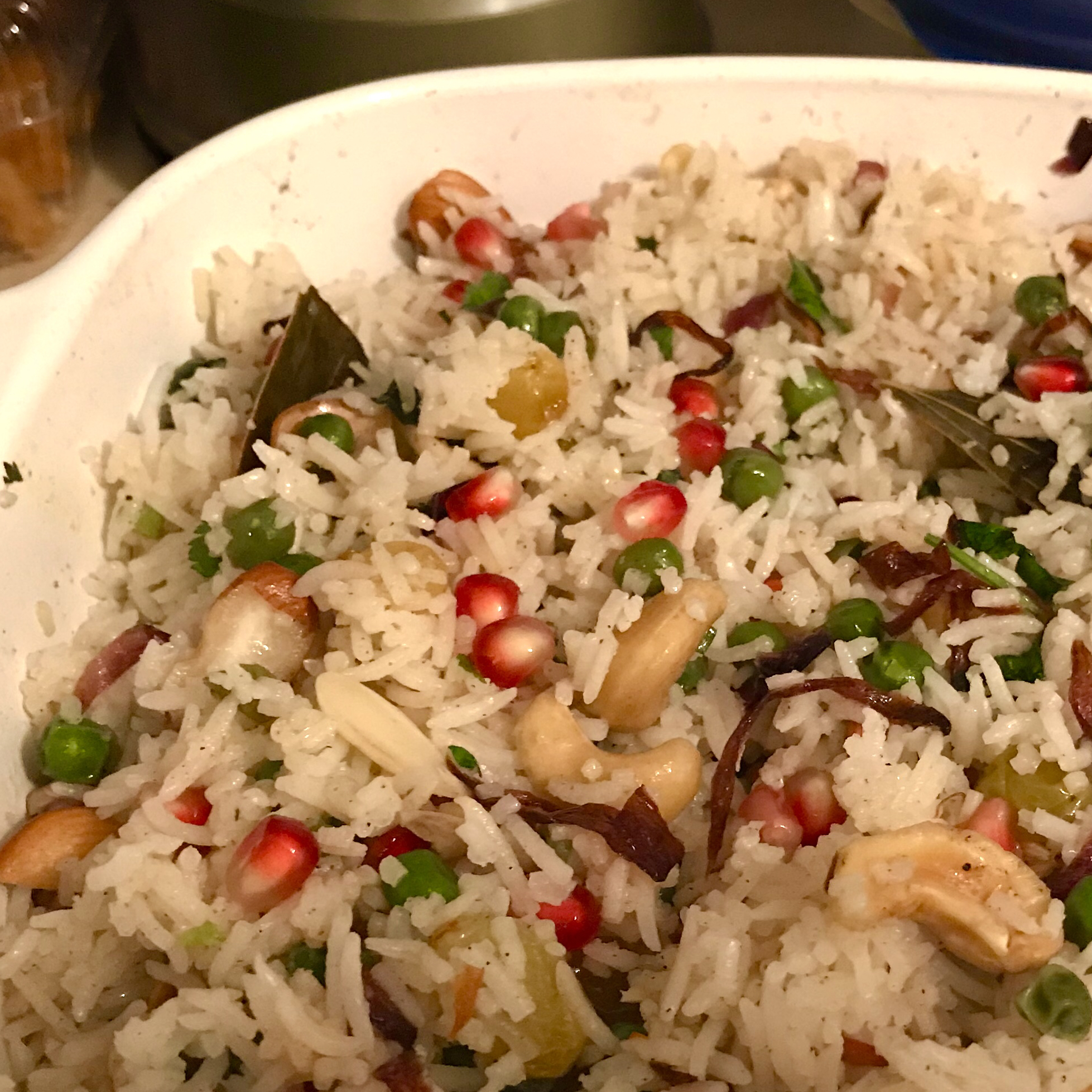 Matar Pulao with Nuts