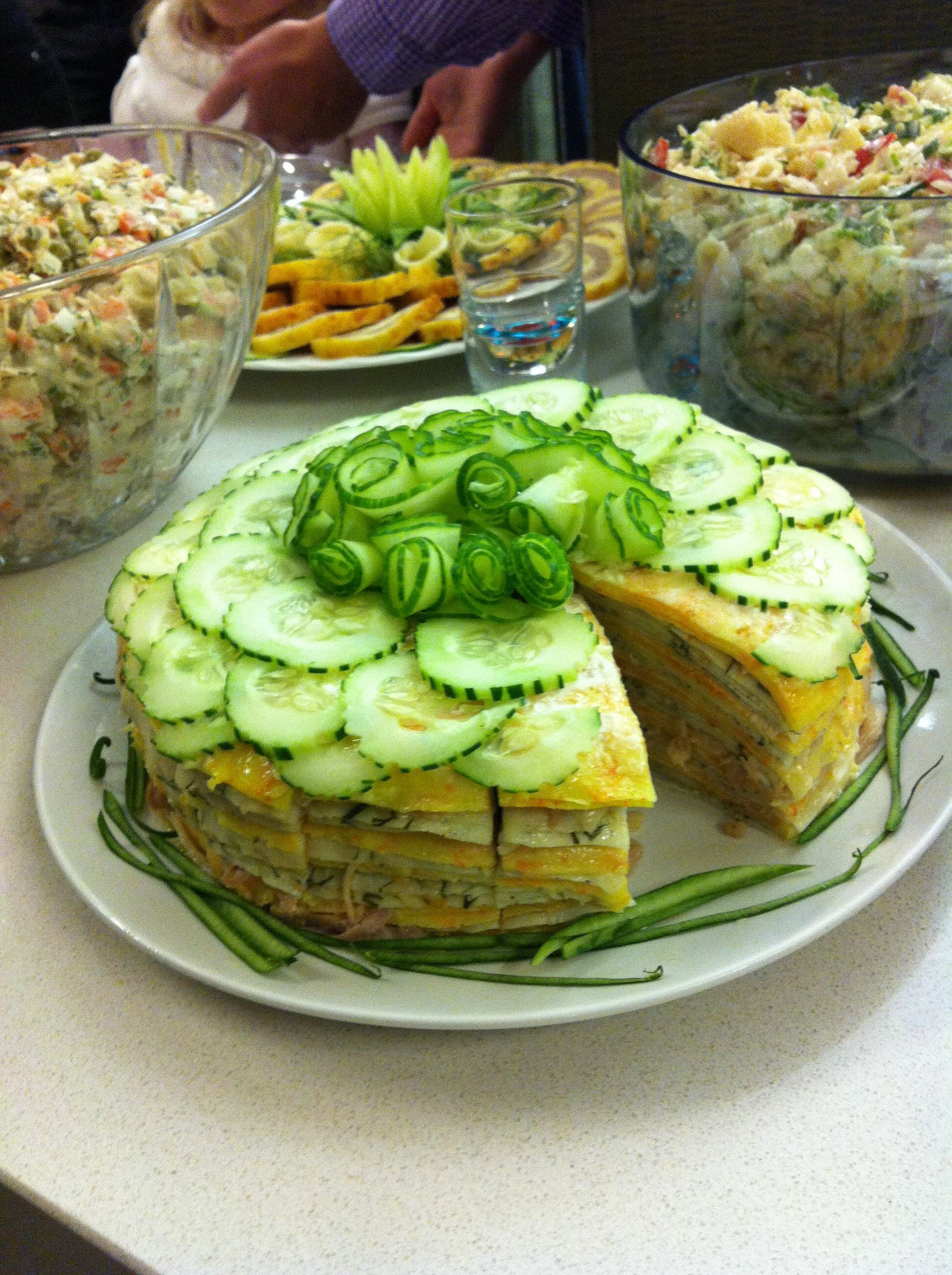Cheese Torte with Chicken and Mushroom