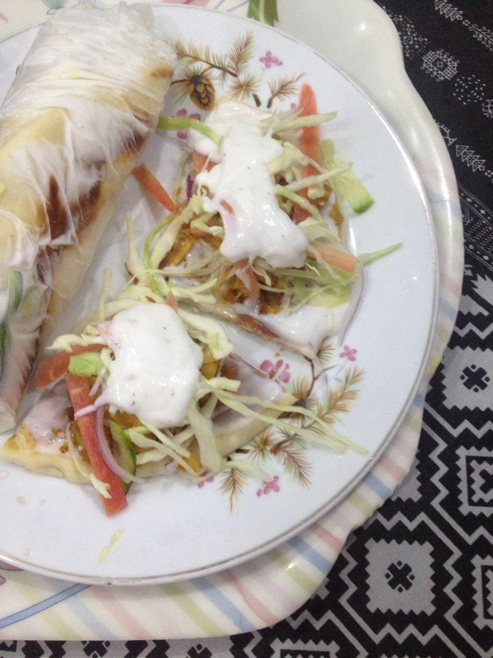 Finest Arabic Chicken Shawarma Sandwich Zainab Pervaiz