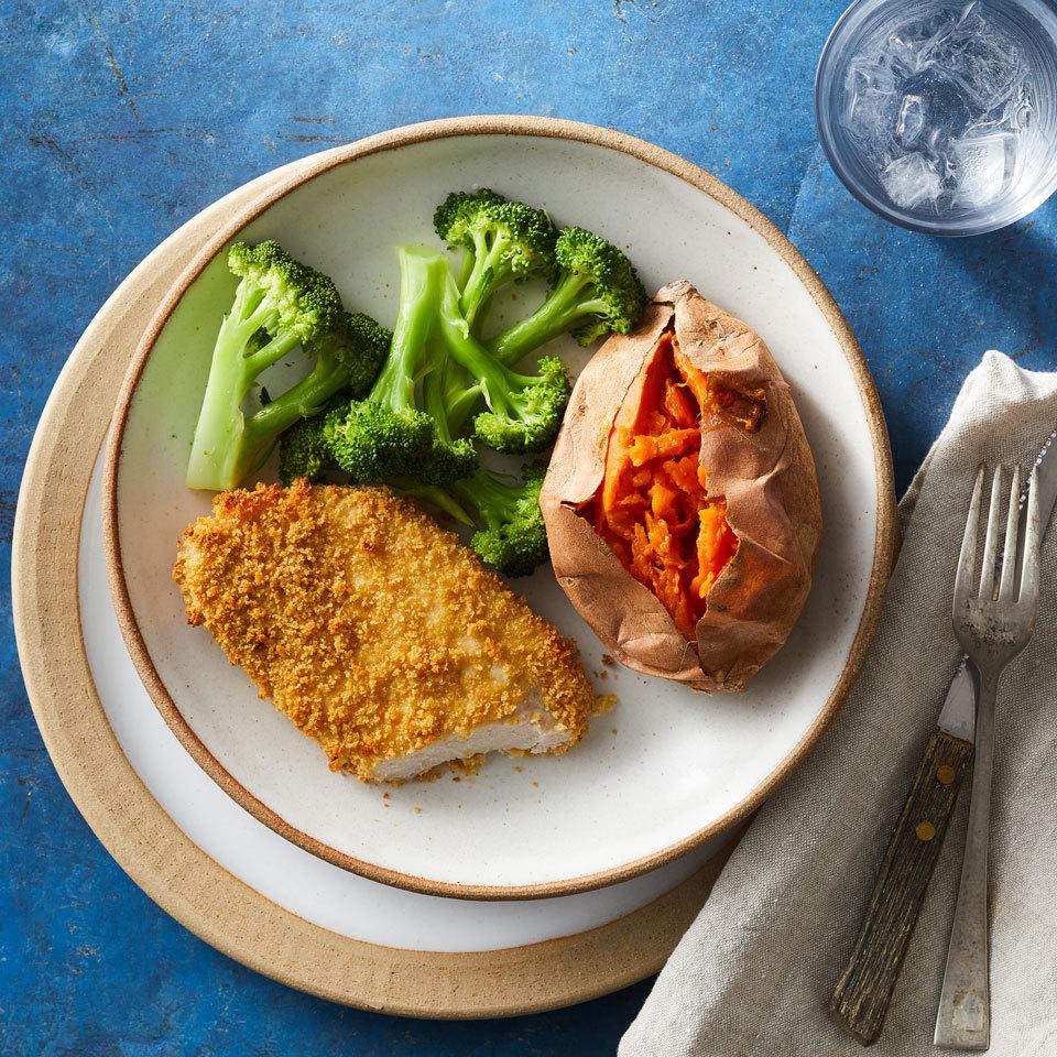 Healthy Oven-Fried Pork Chops Hilary Meyer
