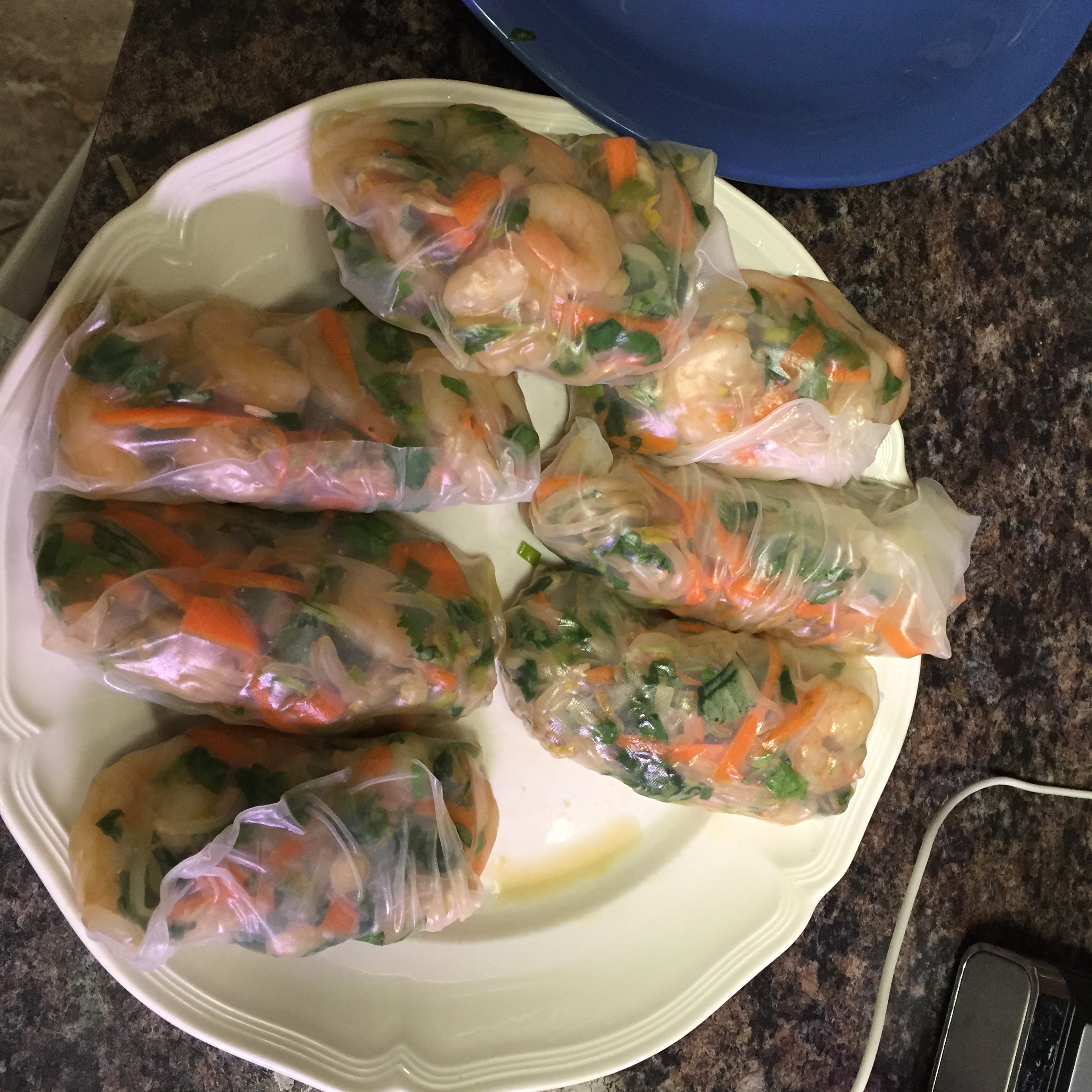 Thai Chicken Spring Rolls