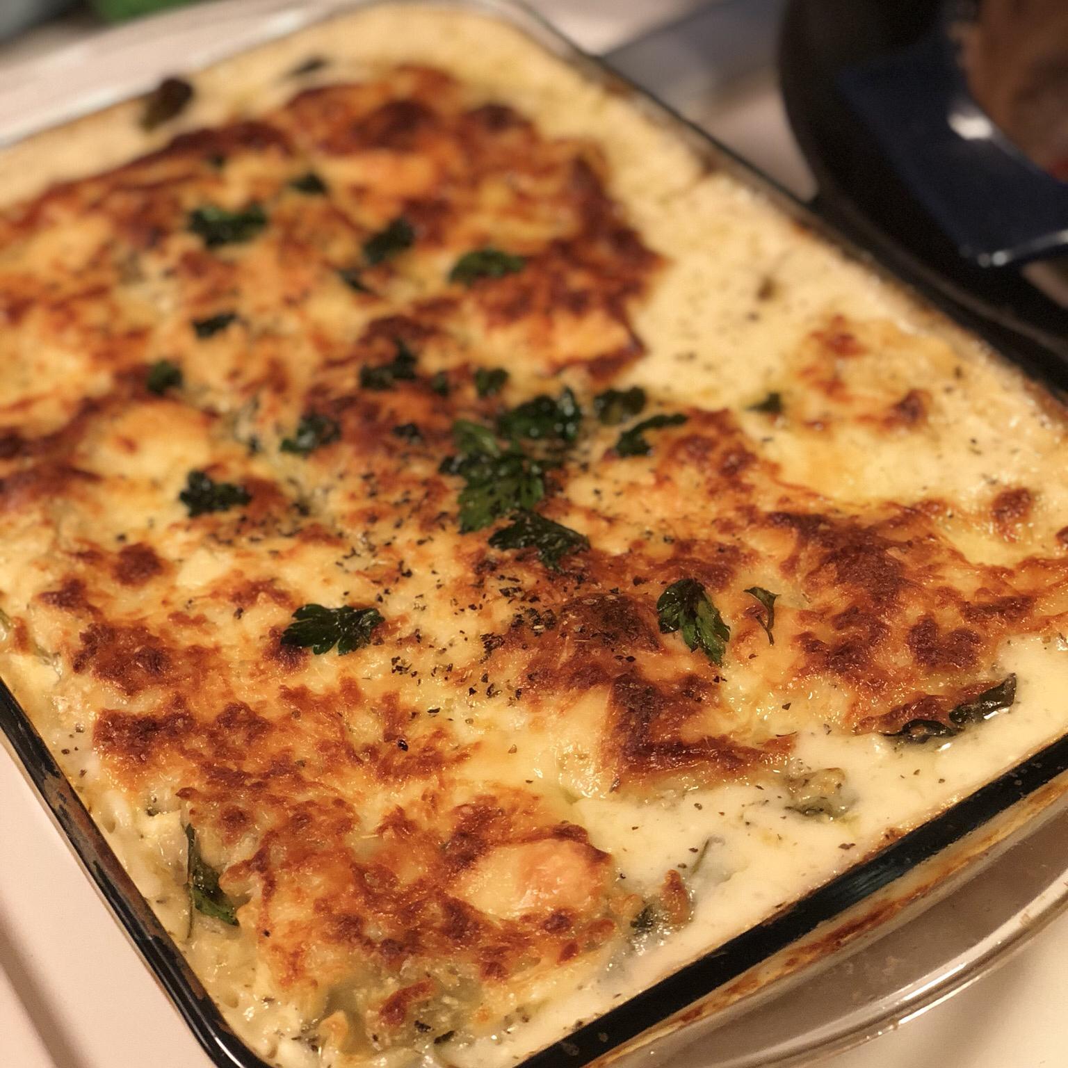 White Cheese Chicken Lasagna Tess Marie