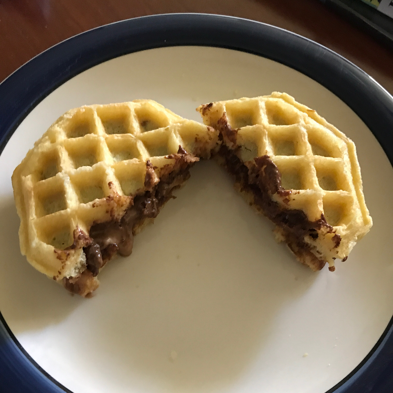 Peanut Butter Chocolate Waffle Sandwich Taw