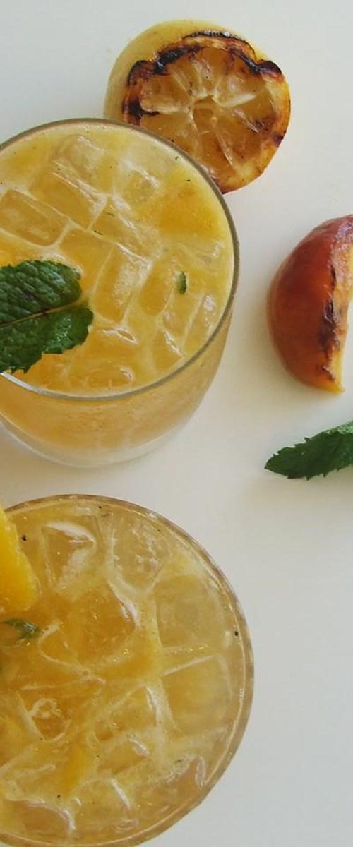 Grilled Peach Bourbon Smash