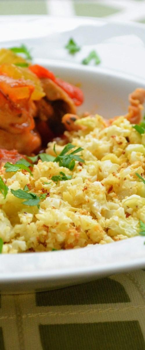 "Roasted Cauliflower ""Rice"""