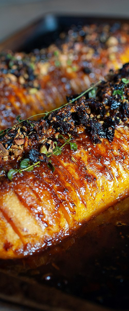 Sweet and Savory Hasselback Butternut Squash